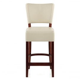 Ramsay Walnut Stool Cream Leather