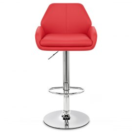 Manhattan Bar Stool Red