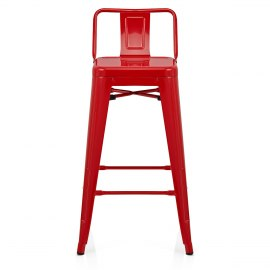 Replica Tolix Stool With Back Red