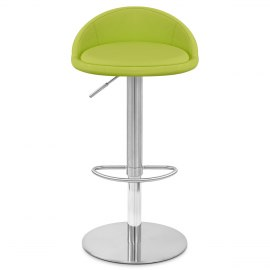 Ava Brushed Bar Stool Green