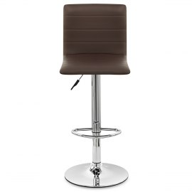 Fabio Real Leather Stool Brown