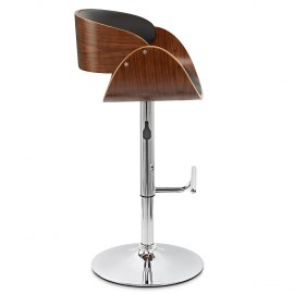 Becky Walnut Bar Stool Black