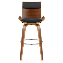 Harper Bar Stool Walnut & Black