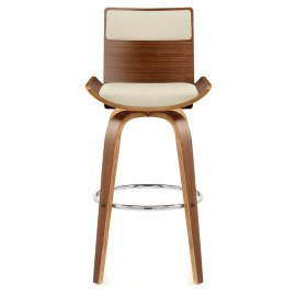 Harper Bar Stool Walnut U0026 Cream