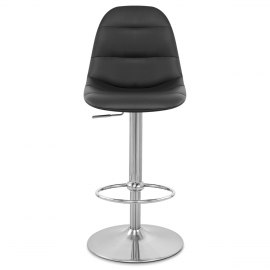 Deluxe Duo Leather Brushed Stool Black Atlantic Shopping