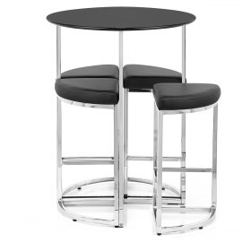 Scope Bar Stools & Table Black