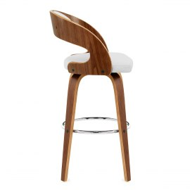 Alicia Walnut Bar Stool White