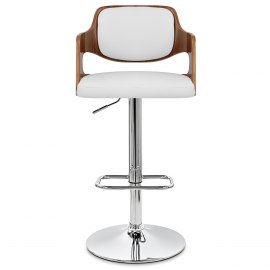 Amazon Walnut Bar Stool White