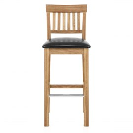 Grasmere Oak Bar Stool Black