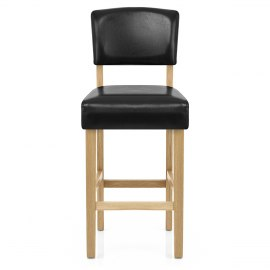 Sydney Oak Bar Stool Black