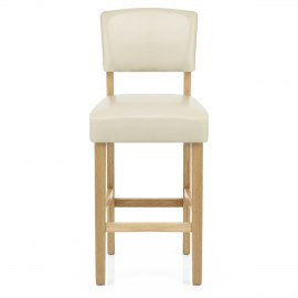 Sydney Oak Bar Stool Cream