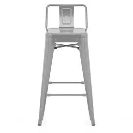 Replica Tolix Stool With Back Grey
