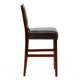 Jasper Leather Bar Stool Walnut & Brown
