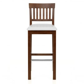 Grasmere Dark Oak Bar Stool White