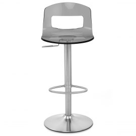 stardust brushed steel stool smoked