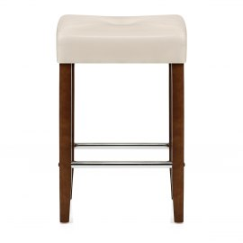 Otis Walnut Bar Stool Cream