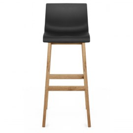 High Drift Oak Amp Black Bar Stool Atlantic Shopping