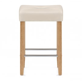 Otis Oak Bar Stool Cream