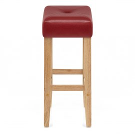 Otis Oak Bar Stool Red