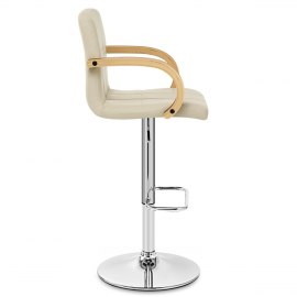 Burton Oak Bar Stool Cream
