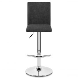 Deluxe High Back Stool Grey Fabric
