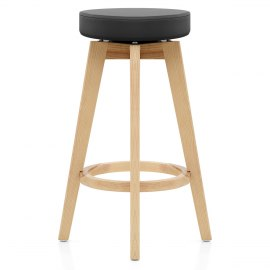 Apex Oak Bar Stool Black