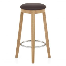 Ikon Kitchen Stool Oak & Brown