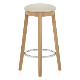 Ikon Kitchen Stool Oak & Cream