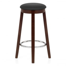 Ikon Kitchen Stool Walnut & Black