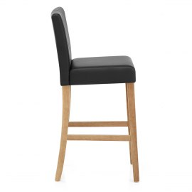 Cornell Oak Bar Stool Black