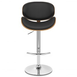 Theo Walnut Bar Stool Black