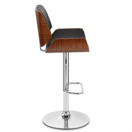 Aldo Walnut Bar Stool Black