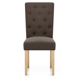 Vigo Chair Oak & Brown