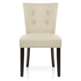 Buckingham Dining Chair Cream Leather