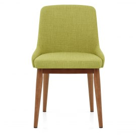 Jersey Dining Chair Walnut & Green