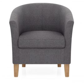 Tub Chair Charcoal Fabric
