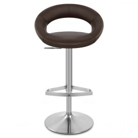Brushed Crescent Stool Brown