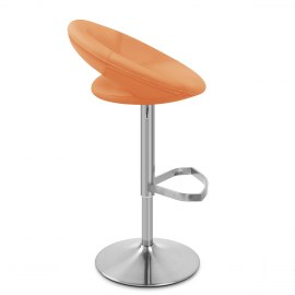 Brushed Crescent Stool Orange