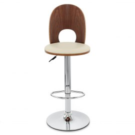 Bolero Wooden Stool Cream