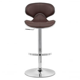 Deluxe Duo Real Leather Stool Brown