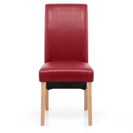 Heston Oak Dining Chair Red