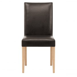 Chicago Oak Dining Chair in BrownDining   Kitchen Chairs at great prices   Atlantic Shopping. Oak Dining Chairs With Cream Leather Seats. Home Design Ideas