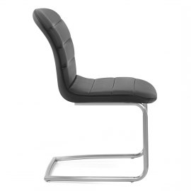 Mica Brushed Dining Chair Black