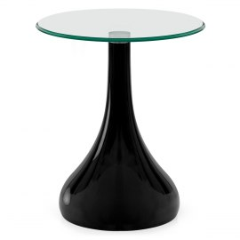 Whirl Small Glass Coffee Table Black