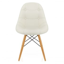 Cushioned Eames Style DSW Chair Cream