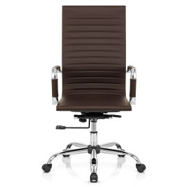 Metro Eames Style Office Chair Brown