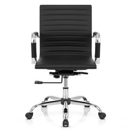 Eames Style Medium Back Office Chair Black