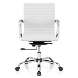 Eames Style Medium Back Office Chair White
