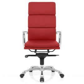 Eames Style 3 Cushion Office Chair Red