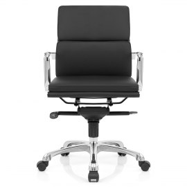 Eames Style 2 Cushion Office Chair Black